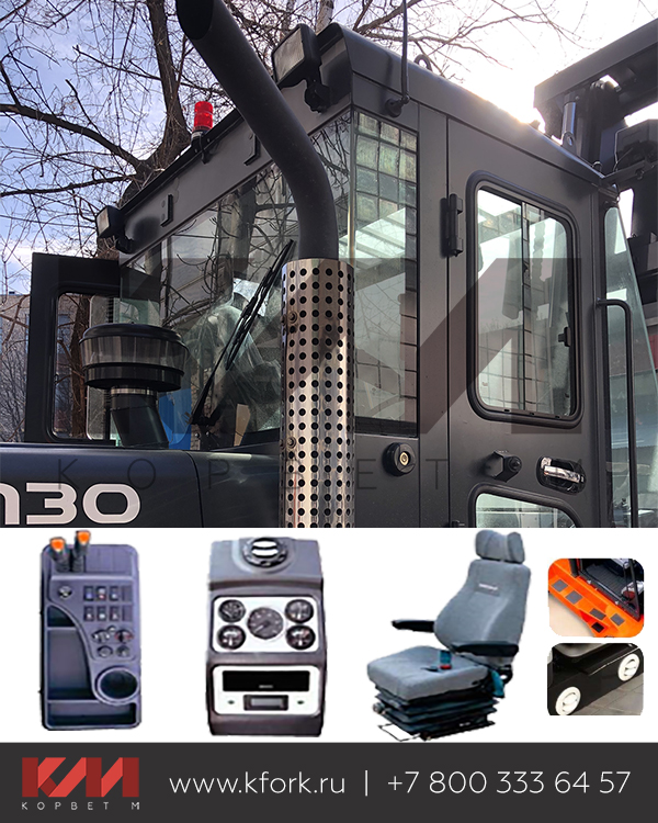 Система комфорта оператора и кабина Дусан D100S
