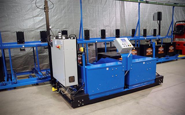 обслуживание тяговых АКБ от Carney Battery Handling